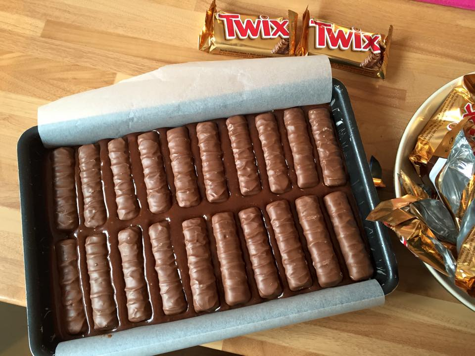 twix stuffed brownies